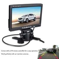 7 Inch 12V TFT LCD Screen Car Monitor Rearview Screen For CCTV Reversing Rear View Backup Camera+Remote Control