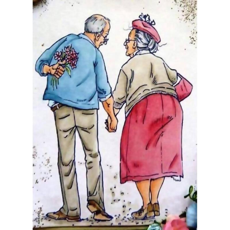 Днем, прикольные бабушка и дедушка картинки