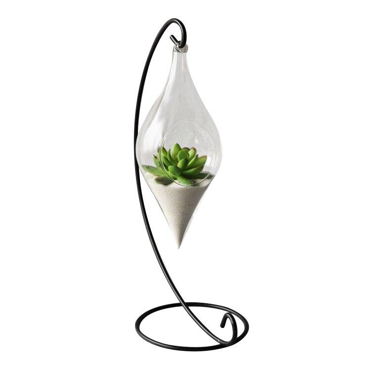 2019 Hängen Glas Vase Hängen Terrarium Hydrokultur Pflanze Blume Durchsichtigen Behälter Innen Hängen Vase Wohnkultur