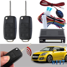 Flip key remote #52 blank Keyless Entry System for Suzuki car 12V Central lock Locking system with LED indicator CHADWICK 8117 remote central door lock system with flip key remote controls many key blanks are selectable suitable for all 12v cars