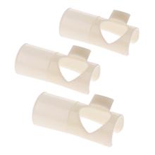 3 sztuki ustnik flet tradycyjne akcesoria do instrumentów muzycznych C D E F G klucz flet praktyka ustnik tanie tanio Tooyful Flute Practice Mouthpiece