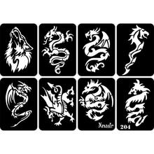 32pcs Self-Adhesive Reusable Face Body Painting Tattoo Stencil Sticker Temporary Airbrush Geometric Floral Fairy Tattoo Stencils
