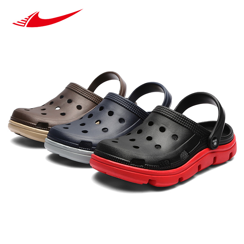 Beita Summer Sandals Men Slippers Water Shoes Outdoor Mules Clogs Breathable Barefoot Sneakers Hollow Out Garden Walking Shoe 45