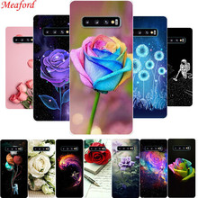 For Samsung S10 Plus Case S10+ Cover Silicone Soft TPU Galaxy Floral Funda S10e Coque