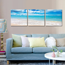 Modern Wall Art Seascape Canvas Painting Blue Sea  Landscape Nordic Picture Home Living Room Decoration Poster No Frame