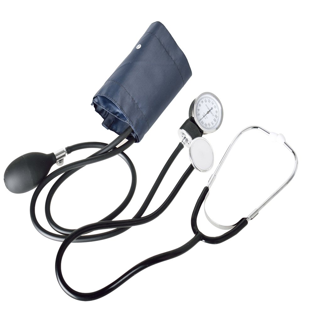 Arm Blood Pressure Monitor with Double tube double head stethoscope Manual Sphygmomanometer Home medical equipment Health Care image