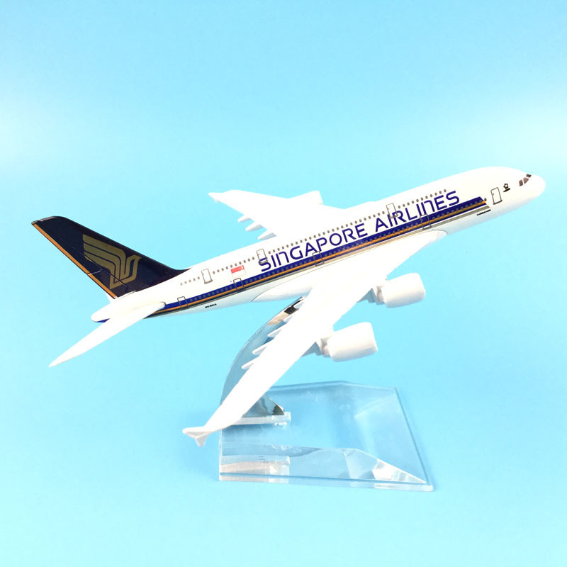Singapore Airways Airbus A380 Aircraft Model Diecast Metal Model Airplanes 16cm 1:400 Airplane Model Toy Plane Gift  M6-042