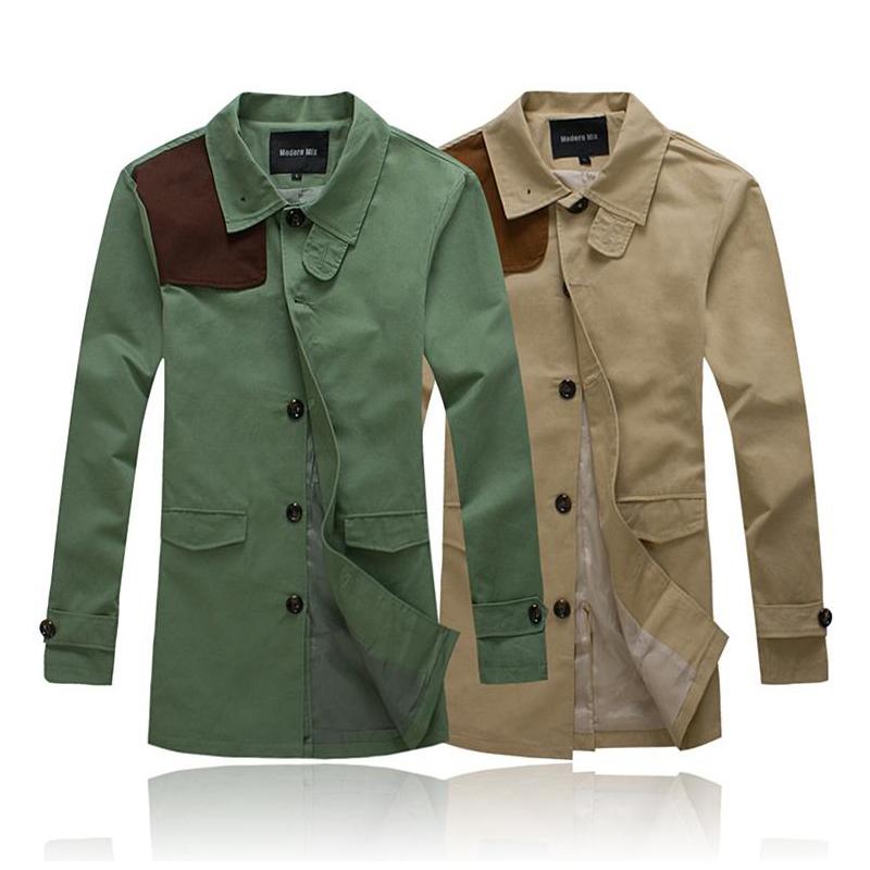 british style Trench coat men long casaco masculin...