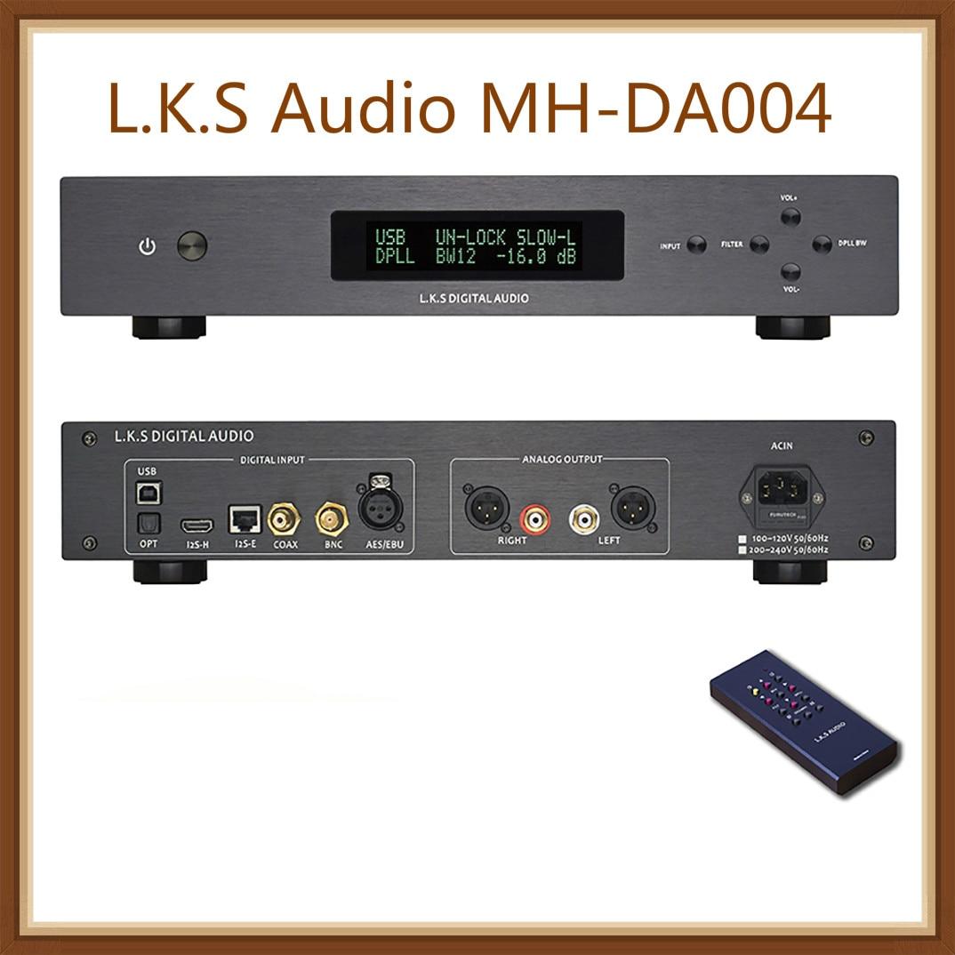 K.s аудио MH DA004 двойной ES9038pro флагманский DSD DAC Вход коаксиальный bnc коннектор AES EBU для доп USB I2S оптический аудио декодер