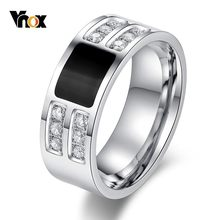 Vnox Stylish Mens Wedding Bands แหวน(China)