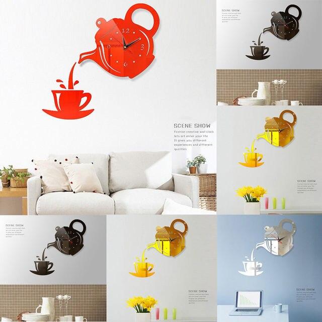 DIY 3D מספר שעון קיר בית משרד דקור אמנות עיצוב חדר מודרני
