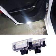 цена на 2Pcs LED Car Door Warning Light for VW Volkswagen Scirocco Passat B6 B7 B5.5 Golf 4 5 6 7 MK4 Jetta MK5 MK6 MK7 CC Tiguan White