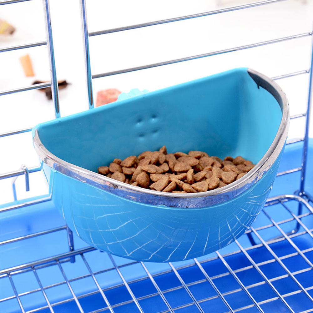 Small Pet Fixed Food Bowl Rabbit Bowl Feeder Chew Resistant Semicircle Food Box