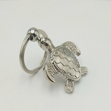 Hot Sale Special Small Turtle Key Ring Creative Crawling Silver Metal Keychain Car Chain