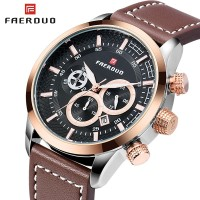 FAERDUO Men's Watch 2019 New Original Brand Watch Men Fashion Quartz Waterproof Chronograph Watches Wrist Watch Military Clock