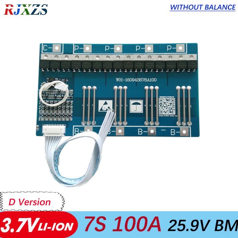 7S 100A 25 9V li ion BMS PCM battery protection board 29 4V big large current