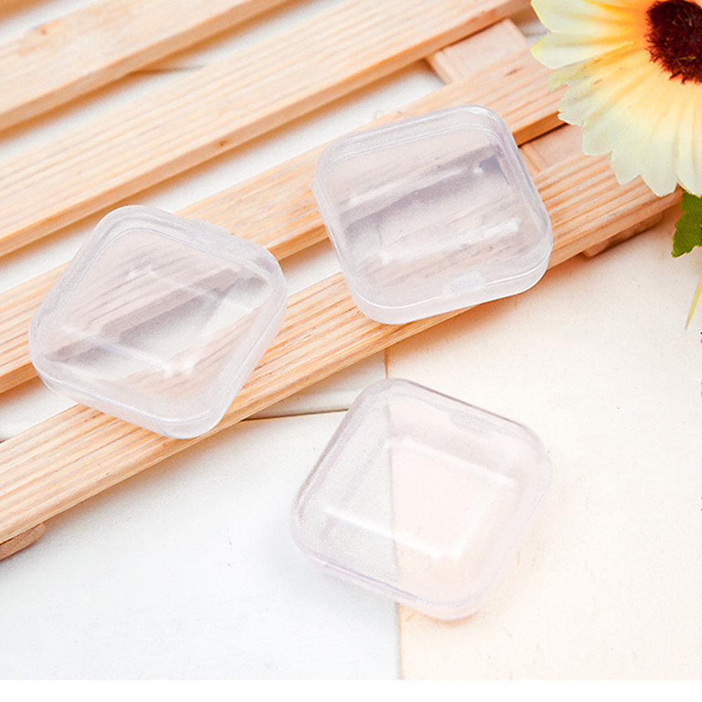 10Pcs Portable Clear Plastic Mini Jewelry Organizer Case Multifunction Travel Jewelry Box Holder Women Gift Boxes For Jewelry