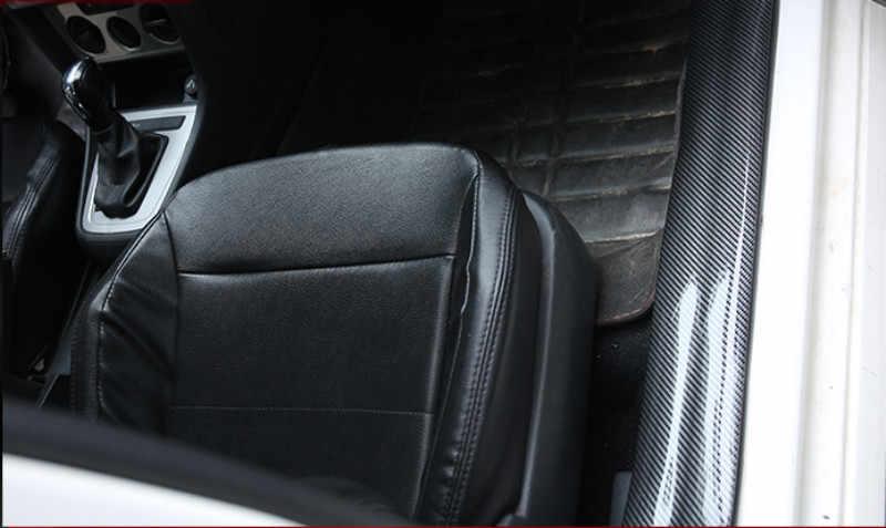 Car Styling Door Sill Protector Carbon Fiber Moulding Strip Trim Front Bumper