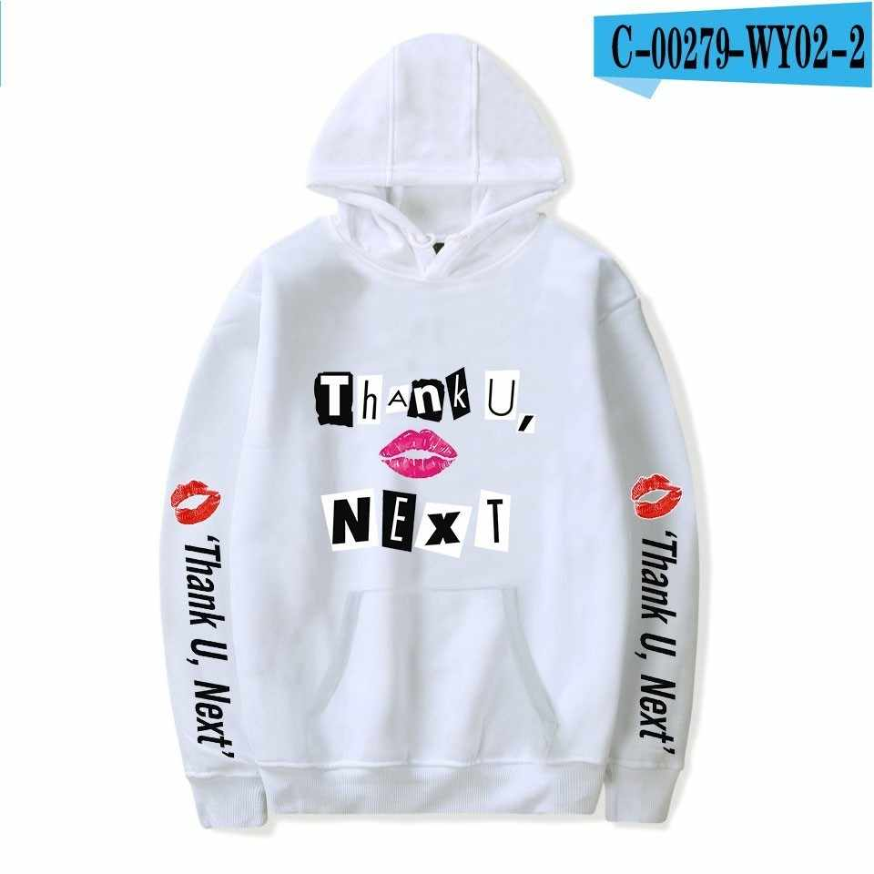 Ariana Grande Hoodies Sweatshirt 감사합니다 다음 2019 새 앨범 캐주얼 패션 프린트 Highstreet Women/men Oversize Sweatshirt