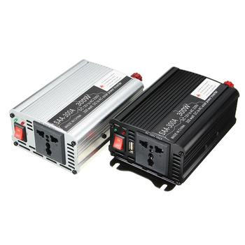 300W Power Inverter 12 V to AC 220 Volt USB Modified Sine Wave LCD Digital Car Charge Converter Transformer
