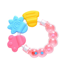 Cool & Chew Teether Keys Baby Rattle and Teether Ring Educational Developmental Toy for Baby Girls
