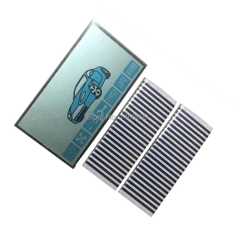 A91 LCD Display Screen Flexible Cable + LCD Keychain Zebra Stripes For Starline A91 LCD Remote Control Display