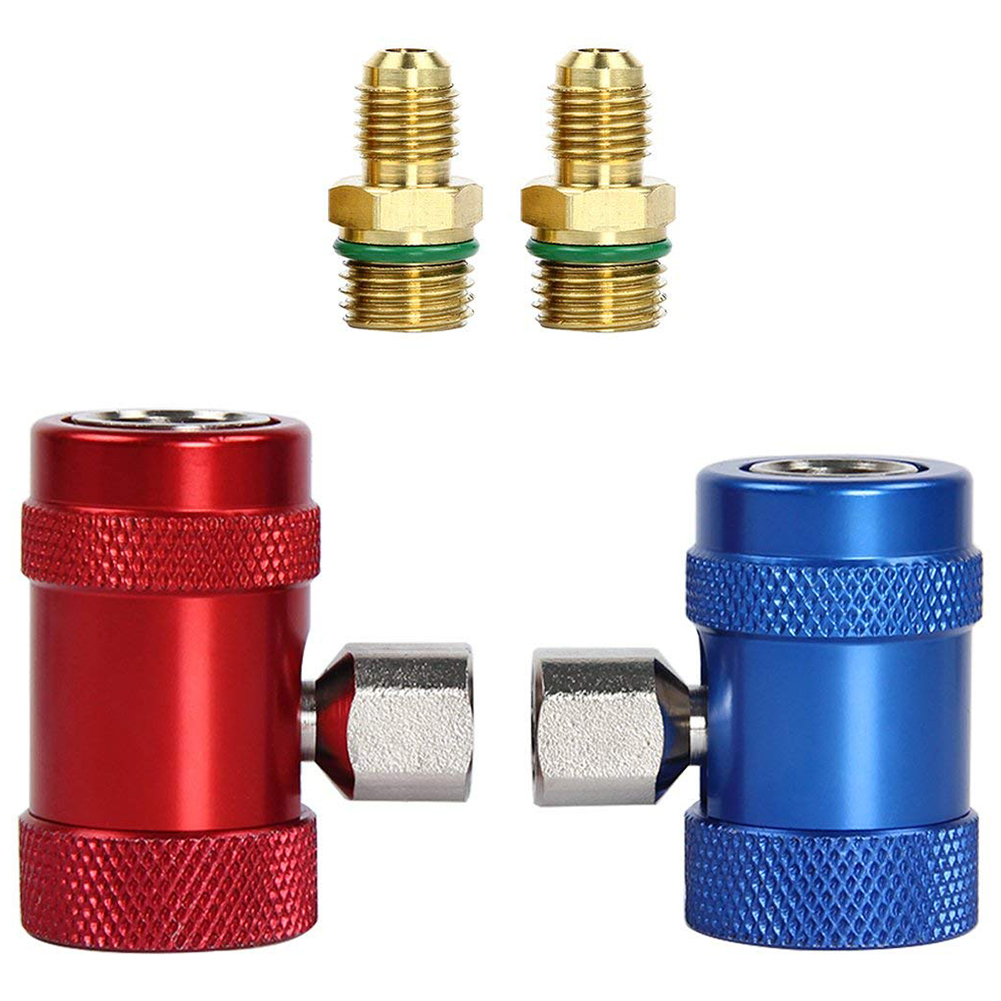 Car Auto AC High / Low Side R1234yf Quick Couplers Adapters Conversion Kit With Manual CouplersCar Auto AC High / Low Side R1234yf Quick Couplers Adapters Conversion Kit With Manual Couplers