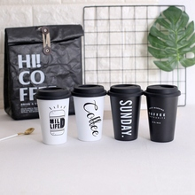 350Ml Coffee Mugs Thickened Stainless Steel Tea Cups Big Travel Mug Camping Cup Letter