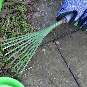 1 Pcs Nine Teeth Grass Rake Sapless Leaf Garden Tools