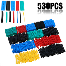 Mayitr 530PCS 8 Sizes 2:1 Heat Shrink Tubing Insulation Shrinkable Tubes Wrap Sleeve Wire Cable Assorted Polyolefin
