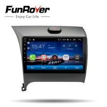 Funrover 2 Din android 8,0 Автомобильный dvd Радио Мультимедийный проигрыватель для Kia CERATO K3 2012-2016 gps навигационная лента стерео рекордер 4 core