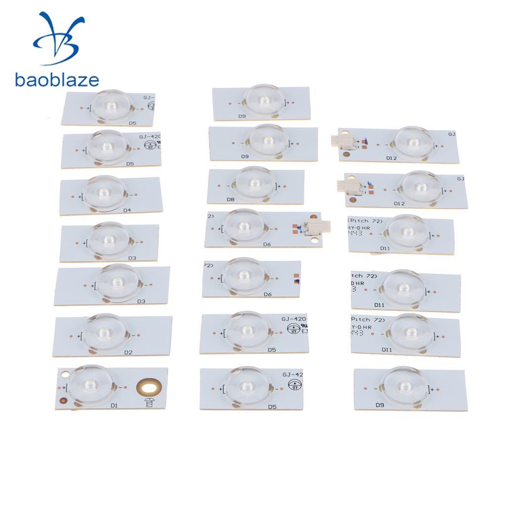 Grânulos da lâmpada de dolity 20 pces 6 v smd com fliter ótico da lente para o reparo da tevê do diodo emissor de luz de 32-65 polegadas
