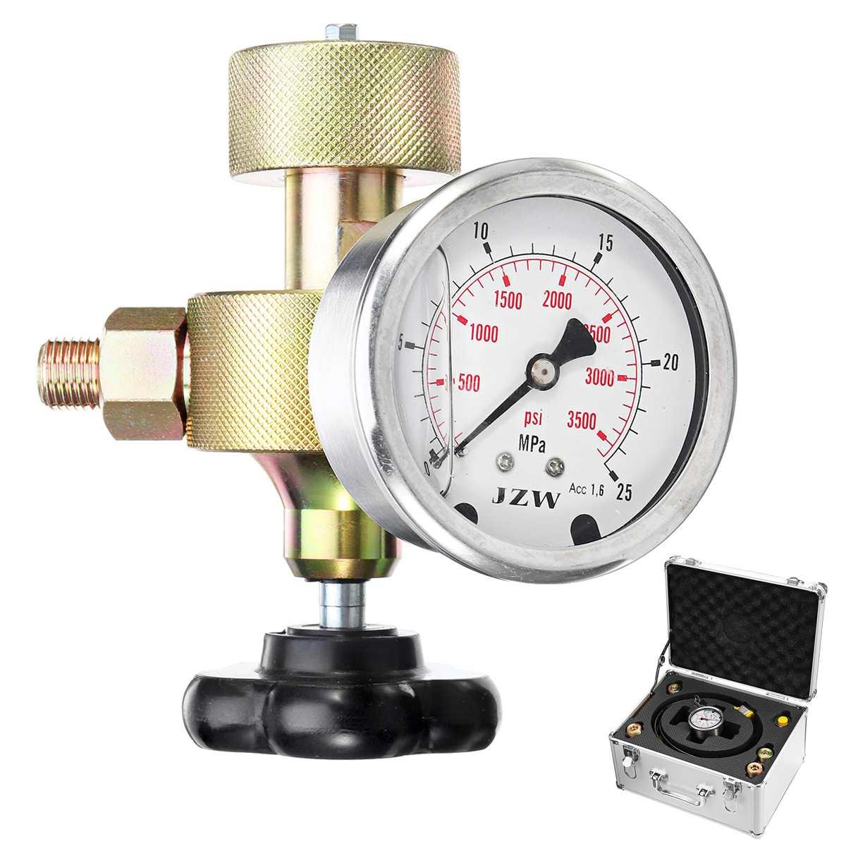 FPU 25/40MPA 6 в 1 надувной инструмент гидравлический аккумулятор азота зарядки заполнения газа клапан тесты комплект углерода сталь аккумулято
