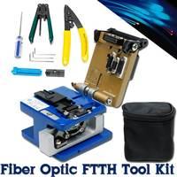 Durable Fiber Optic FTTH Splice Tool Kit FC 6S Cutting Fiber Knife Fiber Cleaver Optical Power Meter Fiber Cutter Knife Tool Set