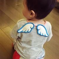 Angel Wing Sweatbands Children Girdle Four Layer Gauze Pure Cotton Baby Cartoon Baby Scapegoat A Piece Of Cloth