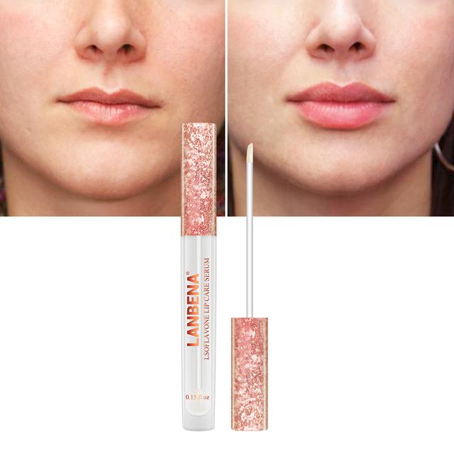 LANBENA Updated Version Increase Lip Care Serum Repairing Lip Reduce Fine Lines Plumper Lip Mask  Resist Aging Moisturizing