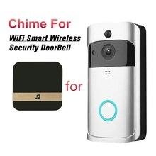 Akıllı WiFi Video kapı zili kamera görsel interkom Chime ile düşük tüketim güç kapı zili kablosuz ev güvenlik kamerası