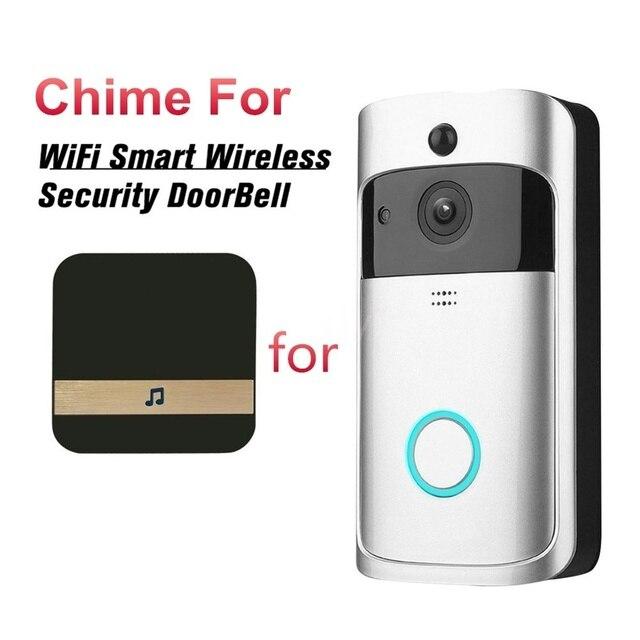 חכם WiFi וידאו פעמון מצלמה חזותי אינטרקום עם פעמון נמוך צריכת חשמל דלת פעמון אלחוטי אבטחת בית מצלמה