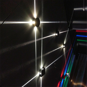 Image 4 - Led 벽 램프 머리맡 램프 침실 거실 벽 램프 현대 간단한 크리 에이 티브 복도 호텔 크로스 스타 벽 빛 ac85 265v