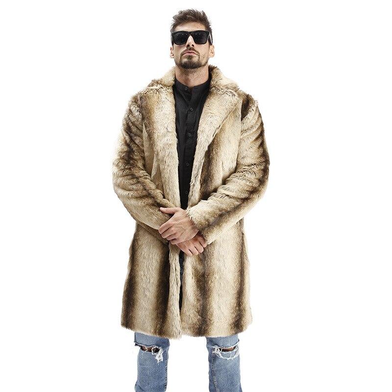 Erkek Kıyafeti'ten Yapay Deri Paltolar'de 2018 Sıcak Erkek Takım Elbise Yaka Faux Yüksek Kaliteli Tavşan Kürk Deri Ceket Kış Sıcak turn aşağı Yaka Lüks Vizon kürk Erkek Kürk Ceket'da  Grup 1