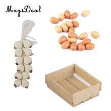 1 ud. Caja de madera Natural Vintage para casa de muñecas 1/12 cocina utensilios de cocina decoración niños juguete para juego de imitación