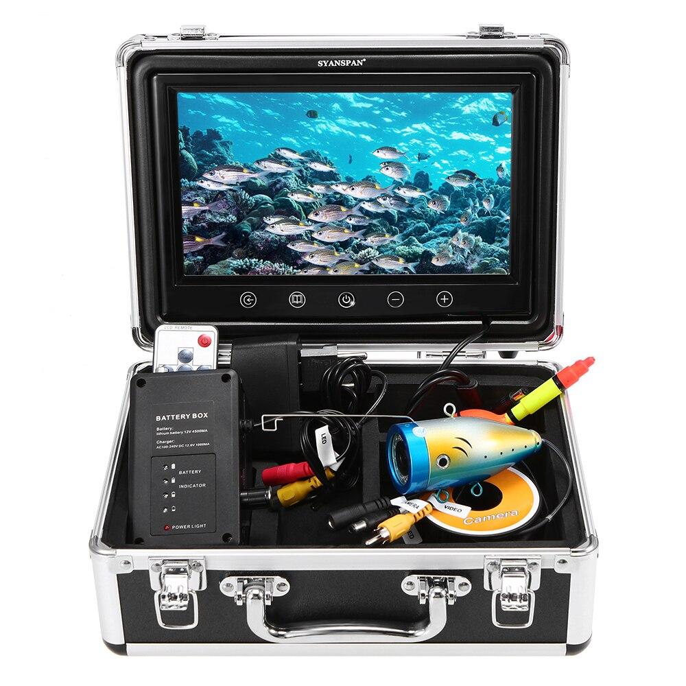 """ポータブル 9 """"インチの大型液晶モニター 1000TVL 防水水中カメラキット 24 個赤外線赤外線 Led 魚ファインダー  グループ上の スポーツ & エンターテイメント からの 魚群探知機 の中 1"""