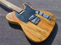 Hot sale telecast guitar,Acacia top,natural glossy finish guitar,chrome hardware,free shipping