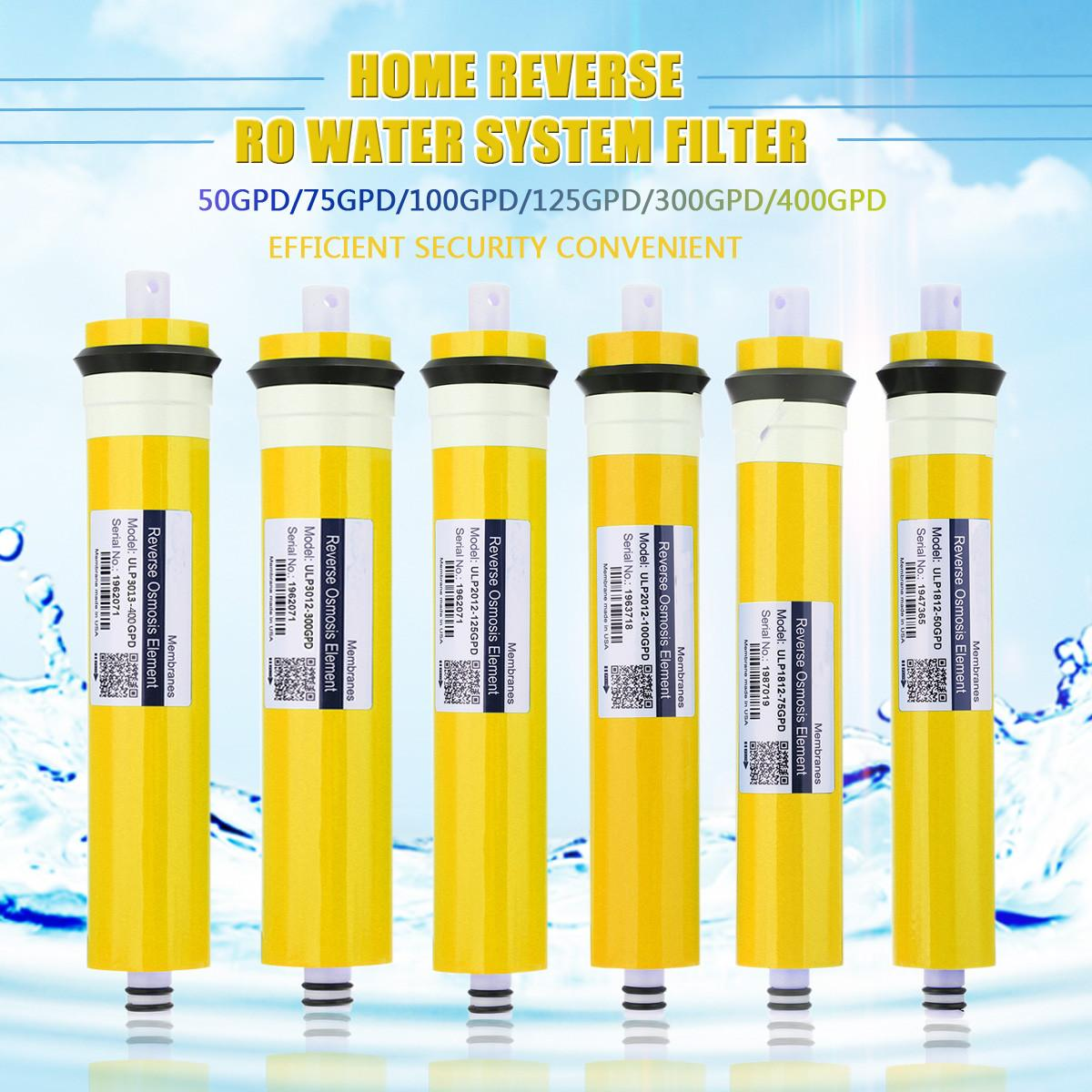 50/75/100/300/400G RO Membrane Replacement Water Filter Purifier Reverse Osmosis System Home Kitchen Drinking Water Treatment