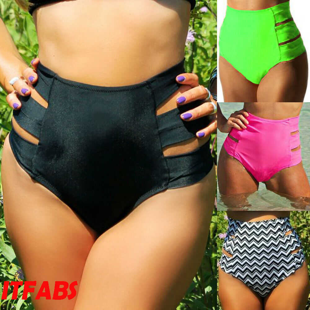 5d225ef84306 Hirigin alta cintura mujeres Bikini Bottoms 2019 Elactic mujeres ...