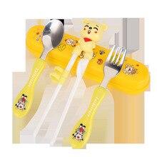 Children Chopsticks Household Child Tableware Baby Having Dinner Spoon Fork Study Practice Suit Boy girl
