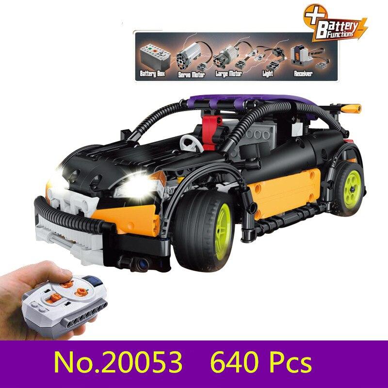 Nouveau Modèle kits de construction compatible avec lego VILLE 640 pcs La Berline Type RC 3D blocs Éducatifs jouets passe-temps pour enfants