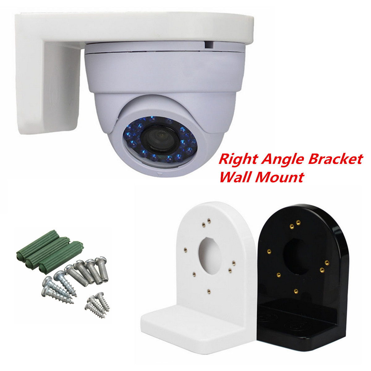 3.5 inch L Type Plastic Right Angle Bracket Wall Mount for CCTV Dome IP Security Camera3.5 inch L Type Plastic Right Angle Bracket Wall Mount for CCTV Dome IP Security Camera