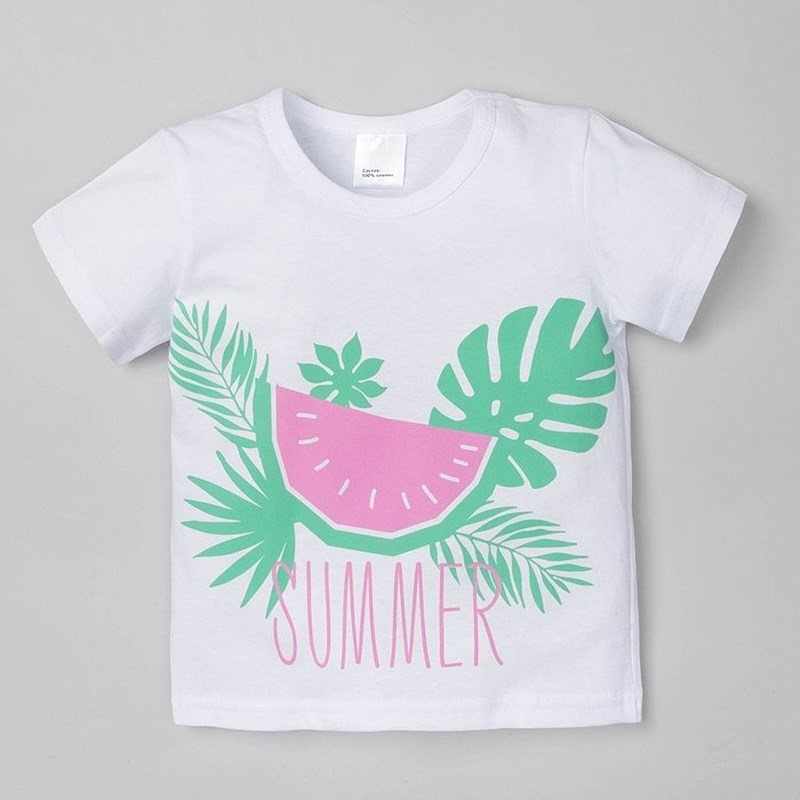 [Available with 10.11] T-shirt economy Watermelon watermelon print round beach blanket