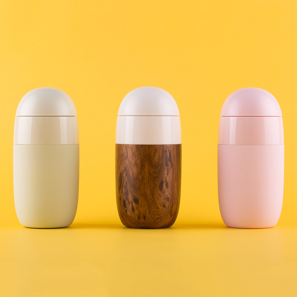 Xiaomi S - U35ES Kiss-Kiss Fish Egg Breakfast Water Bottle Vacuum Insulation Portable Timer Bottle From Xiaomi Youpin 380mlXiaomi S - U35ES Kiss-Kiss Fish Egg Breakfast Water Bottle Vacuum Insulation Portable Timer Bottle From Xiaomi Youpin 380ml